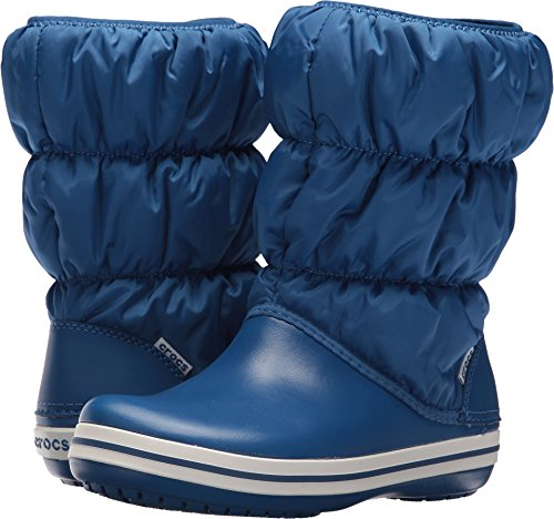 Crocs Women's Winter Puff Snow Boot, Blue Jean/Blue Jean, 7 M US (Boots Blue Croc)