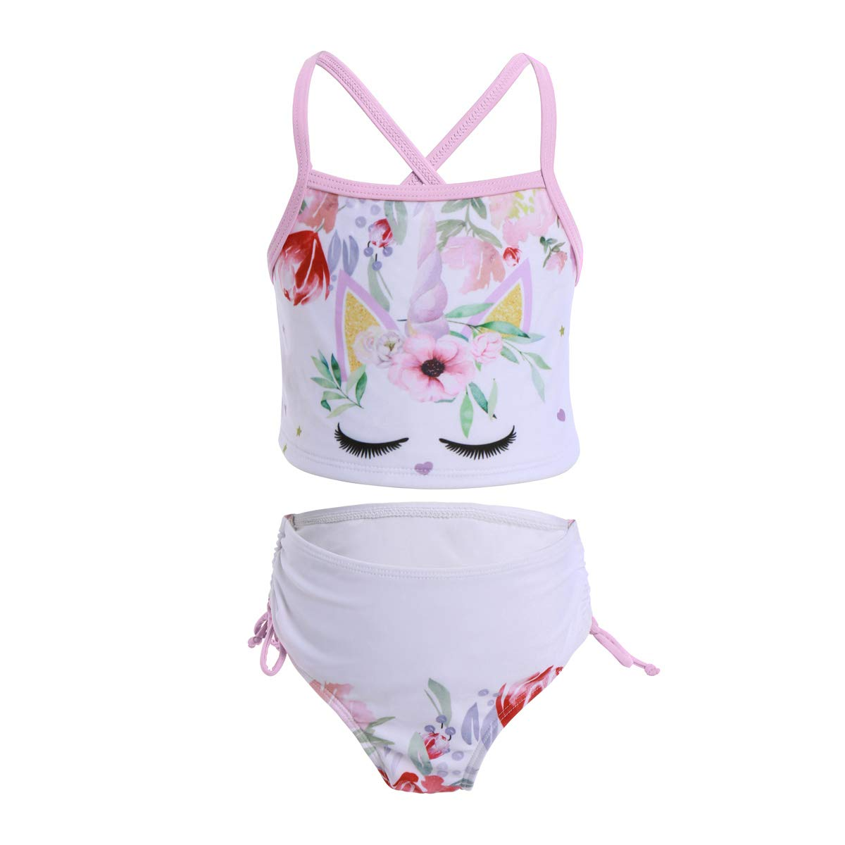 Kids Girls Cartoon Character Swimwear Swimming Costume Swimsuit Bikini  Tankini