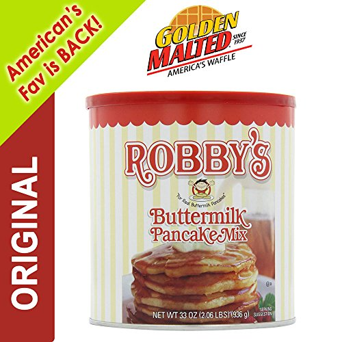 Carbon's Golden Malted ROBBY'S BUTTERMILK Pancake Flour Mix, 33 oz (Carbons Golden Malted Pancake)