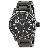 Nixon Men's A277-1421 Diplomat SS Black/Silver/Green Watch