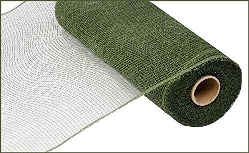10 inch x 30 feet Deco Poly Mesh Ribbon - Value Mesh (Moss Green)