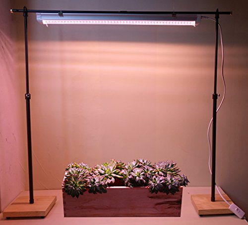 T5/T8 Full Spectrum LED Plant Grow Light Stand Rack Shelf Floor Lamp with Free High for Indoor Plants Vegetable Flower (2 Rack + 1 Stick) by AiHihome