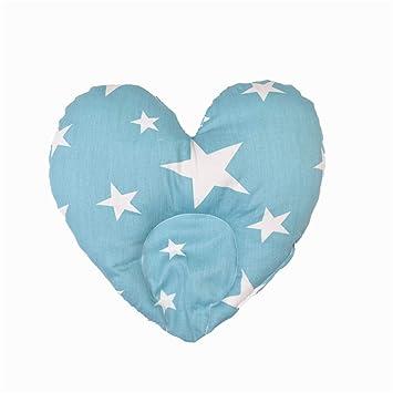Almohadilla del bebé Almohada en forma de corazón de algodón ...