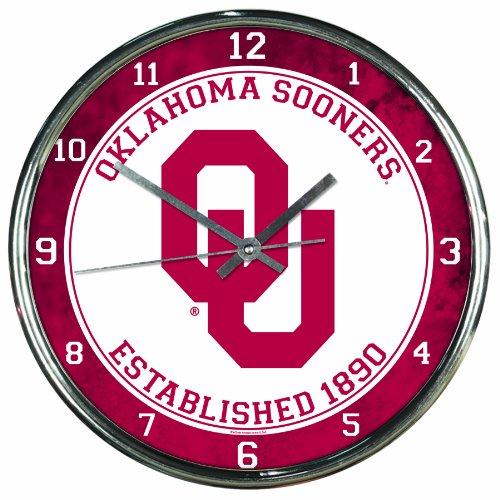 - NCAA Oklahoma Sooners Chrome Clock, 12