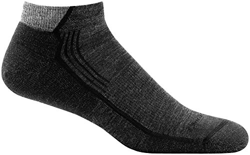 (Darn Tough Hiker No Show Light Cushion Sock - Men's Black Large)
