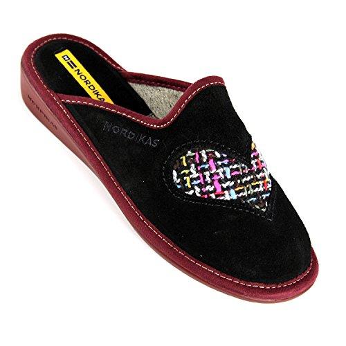 Nordika - Zapatillas de estar por casa para mujer Negro - negro