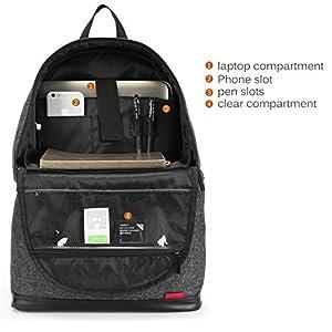 Amzbag Camera Bag DSLR Camera Backpack Case [Backpack+Briefcase] Water-resistant Nylon Camera Case (Black)