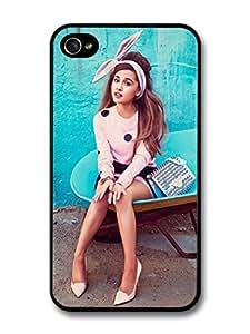 Ariana Grande Blue Background Popstar Singer carcasa de iPhone 4 4S A3508