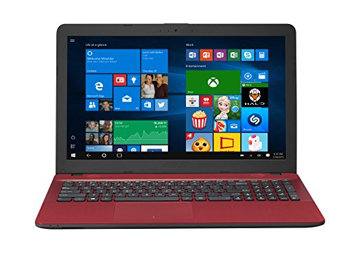 ASUS R541NA-RB21T-RD Vivo Book Touch HD Laptop, Intel Pentium N4200 Quad Core Processor, 4GB DDR3 RAM, 500GB HDD, Windows 10, 15.6″, Red