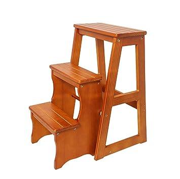 Taburete plegable de madera para adulto | Escaleras de paso ...