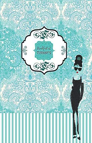 Pattern Tiffany Shade - Breakfast at TIFFANY's: Turquoise pattern with Audrey Hepburn's shade, College classic Ruled Pages Book (130 Pages) 5.5 x 8.5 Medium Lined Journal ... Notebook to write in (Positive Vibrations)