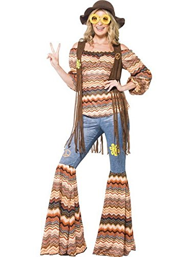 Smiffy's Women's Harmony Hippie Costume, Multi-Colour, L - US Size -