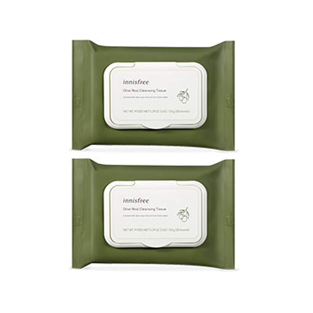 Innisfree Olive Real Cleansing Tissue 30 sheets x 2