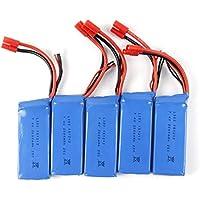5PCS Quadcopter Battery, Emubody 2000mAh Li-Polymer Battery + Balance Charge For X8C/X8W/X8G/X8HC/X8HW/X8HG
