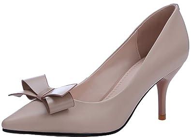 a6ae9b2ca954 Arraysa Femme aouanu Bout Pointu 7CM Glisser sur Escarpins Chaussures
