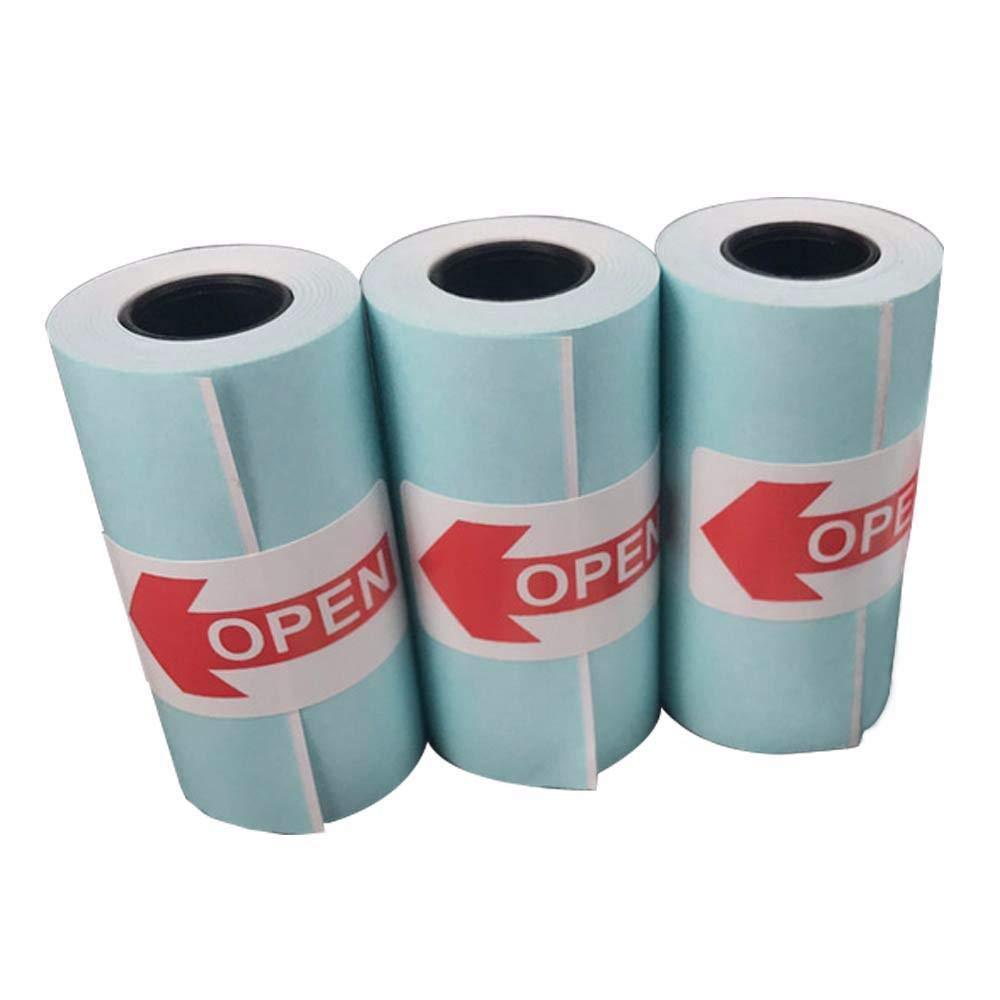 15 Piezas Adhesivo Rollos Termicos 57mm X 30mm Rollo Impresora Termica - para Paperang Mini Impresora Té rmica Portatil Mini Impresora Bluetooth - Pegatina Papel Té rmico 57 30 Teepao