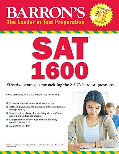 Barron's SAT 1600 (5th 2015) [Carnevale & Teukolsky]