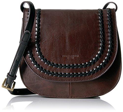 Tignanello Classic Boho Saddle Bag, - Brown Leather Tignanello