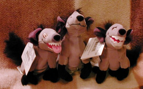 Disney's Set of 3 Lion King Hyena Banzai, Ed and Shenzi 8
