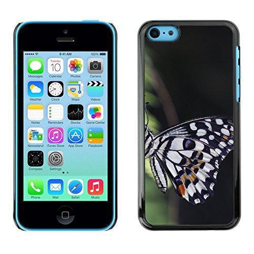 Premio Sottile Slim Cassa Custodia Case Cover Shell // F00012173 papillon // Apple iPhone 5C