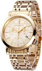 SALE! Authentic Burberry Trench LUXURY Unisex Mens Womens Gold Chronograph Watch Date Dial BU1757