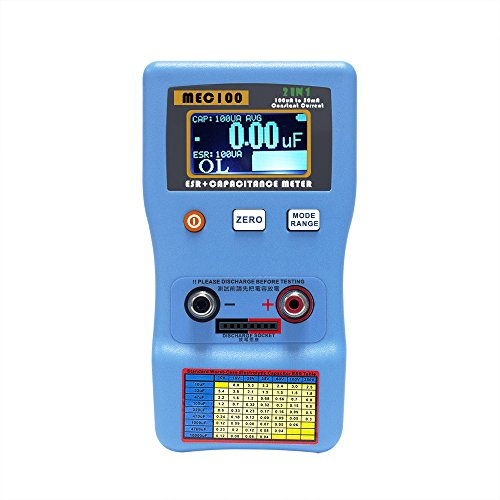Signstek 2 in 1 Digital Auto-ranging ESR + Capacitance Meter 0-470Ω ERS 0μF-470mF Rechargeable Capacitance Tester and Internal Resistance Tester with SMD Test Clips and USB Cable by Signstek (Image #5)