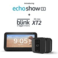 Blink Home Security XT2 Smart 2-Camera Security System + Echo Show 5