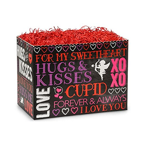 Small Hugs And Kisses Chalkboard Basket Boxes - 6.75 x 4 x 5in. - 84 by NW