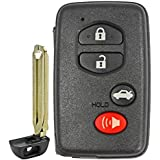 QualityKeylessPlus Aftermarket Replacement Toyota Prox Smart Key Remote for 2007-2011 Toyota Camry, 2011-2013 Corolla and 2007-2012 Avalon Keyless Entry FCC ID: HYQ14AAB E-Board with Keytag Return
