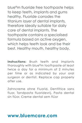 BlueM Toothpaste,Helps Damaged Dental Implants Recover ...