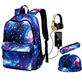 Galaxy School Backpack, Student Bookbag for Boys Girls Kids School Bag Teenagers Laptop bag, Plenty of Storage Bag fit Travel, Outdoors
