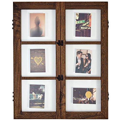 (Stone & Beam Modern Windowpane Wood Picture Frame, 29.6