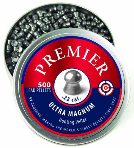 Crosman Domed Premier Pellets, 0.22-Calibre, 500 Count (Air Rifle Barrel Cal)