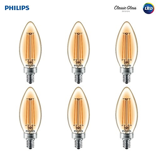 Philips 470757 25 W equivalente regulable e12 candelabro LED foco (18 Pack), Soft White, 6 piezas