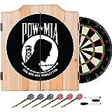 POW MIA Design Deluxe Solid Wood Cabinet Complete Dart Set