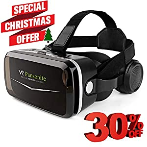 3d0c9b4aa077  2018 Upgrade Version  Pansonite VR Headset with Remote Controller