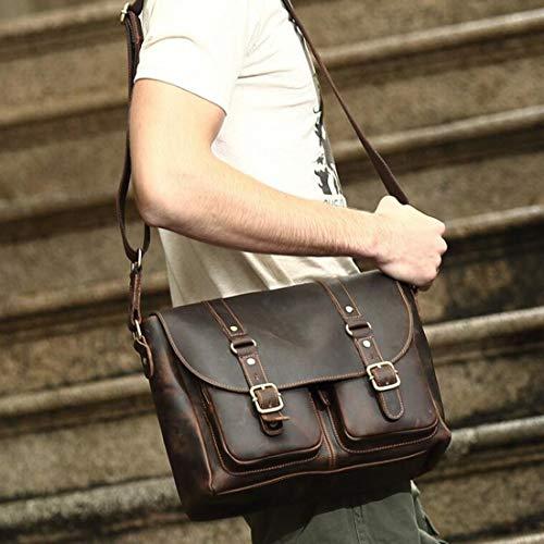 Mensajero Brown2 Macbook Magai Oficina De Hombres color Simple Hombro Cuero Para Portátil Bolso Maletín Vintage Brown2 Bolsa q4Hq0Z