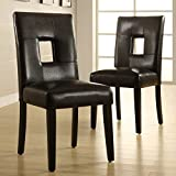 Chelsea Lane Keyhole Dining Side Chair – Set of 2 For Sale