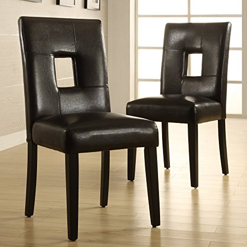 Chelsea Lane Keyhole Dining Side Chair - Set of 2 - Keyhole Side Chair