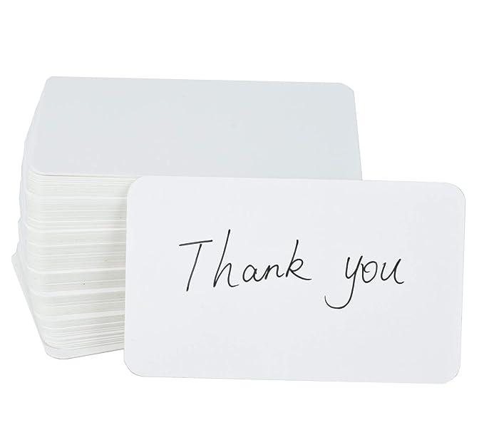 Papier Kraft Vierge Fecedy 100 Pices Cartes De Visite Word Carte Message Cadeau DIY Couleur Blanche Amazonfr Fournitures Bureau