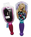 Hannah Montana Teal and Violet Rubberized Grip Anti-Static Hairbrush