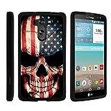 TurtleArmor | LG G Vista Case | LG G Pro 2 Lite Case [Slim Duo] Two Piece Hard Cover Slim Snap On Case on Black - US Flag Skull