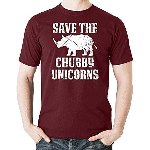 Houshelp Men's Casual Block Short Sleeve T-Shirts Slim Fit Wine