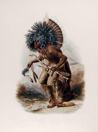 Pehriska-Ruhpa. Moennitarri Warrior in the Costume of the Dog Danse