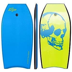 Goplus 41 inch Super Bodyboard EPS Core, IXPE Deck, HDPE Slick Bottom, Light Weight Perfect Surfing (Blue Green)