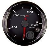 Holley 553-133 Holley EFI Fuel Level Gauge 2 1/16 in. Dia. Level Programmable Black Face Black Bezel Holley EFI Fuel Level Gauge