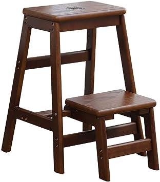 AINIYF Taburete de madera maciza Taburete de 3 pisos Escalera Taburete plegable Zapatos for el hogar Escalera de banco Escalera: Amazon.es: Bricolaje y herramientas