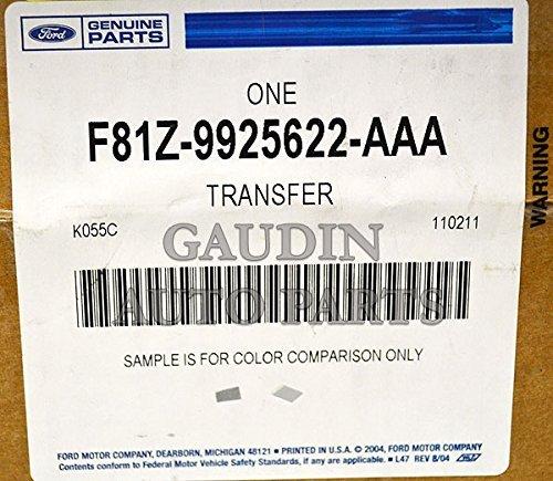 Genuine Ford F81Z-9925622-AAA Nameplate