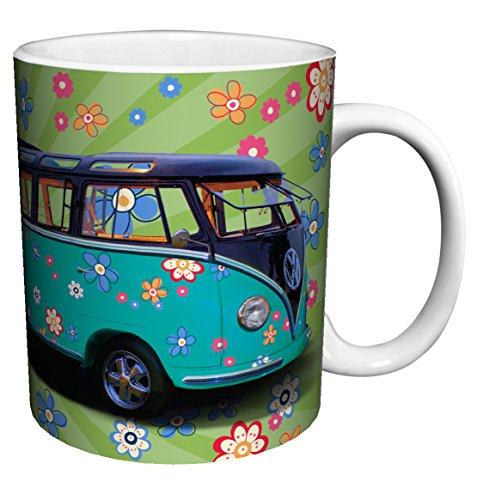 Volkswagen VW Camper Van Hippy Love Bus Vintage Car Photography Art Porcelain Gift Coffee (Tea, Cocoa) 11 Oz. Mug