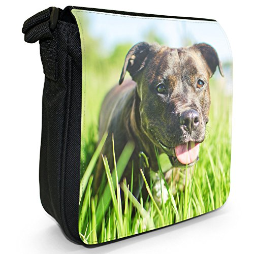 Rottweiler Small Size Canvas Shoulder Bag Long Dog In Grass Black rrfqxRnSwZ